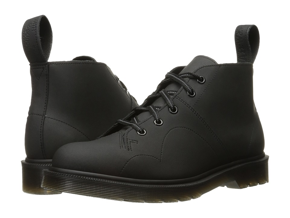 Dr. Martens Church Monkey Boot (Black Ajax/Reflective Glassine) Lace-up Boots