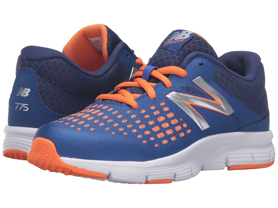 New Balance Kids 775v1 (Little Kid/Big Kid) (Blue/Orange) Boys Shoes