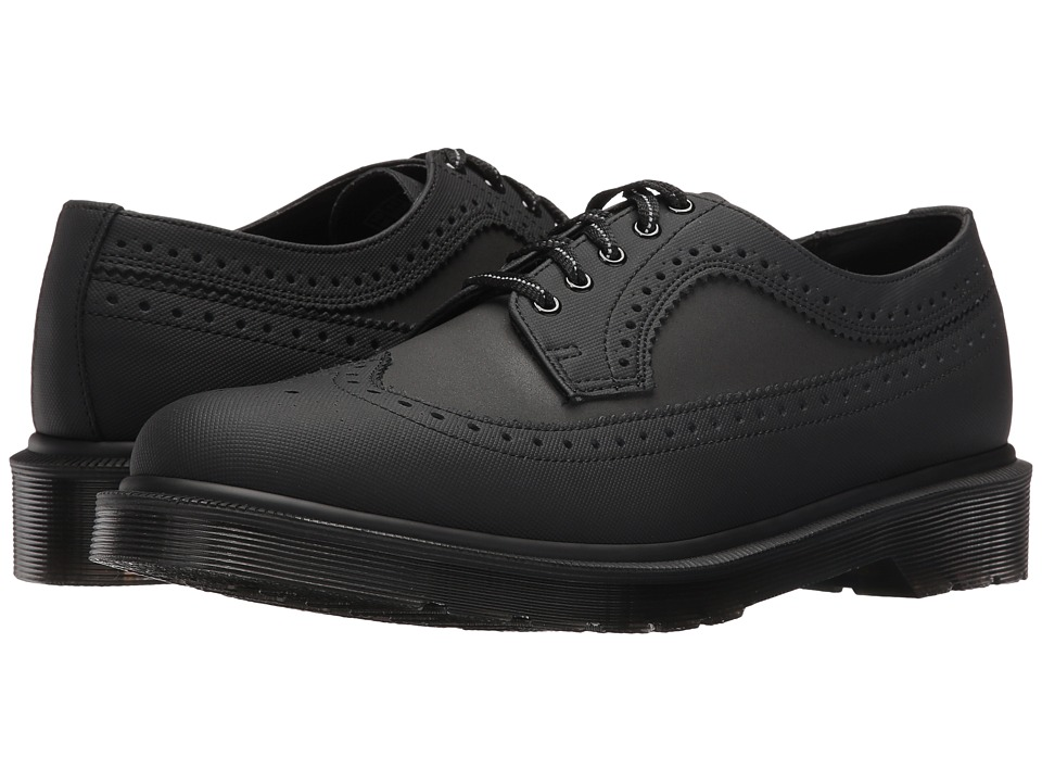 Dr. Martens - 3989 Brogue Shoe (Black Ajax/Reflective Glassine) Lace up casual Shoes
