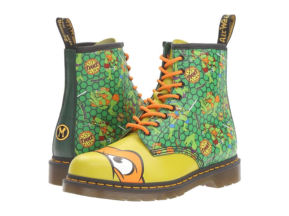 Dr. Martens - Mikey 8-Eye Boot (Green T Lamper/Multi) Lace-up Boots