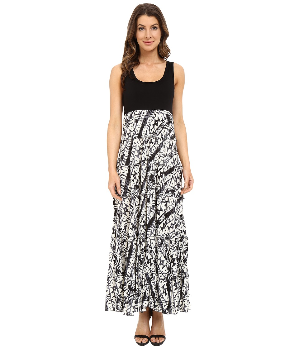 Karen Kane - Tribal Print Tiered Maxi Dress (Print) Women's Dress