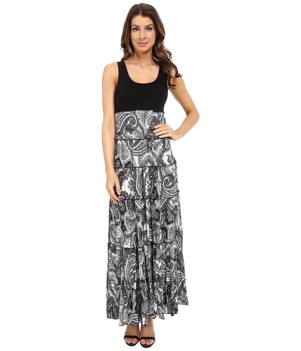 Karen Kane - Paisley Print Tiered Maxi Dress (Print) Women's Dress