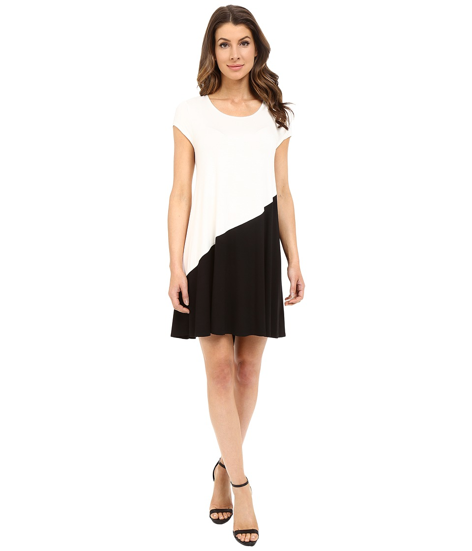 Karen Kane - Color Block Maggie Trapeze Dress (Cream/Black) Women's Dress