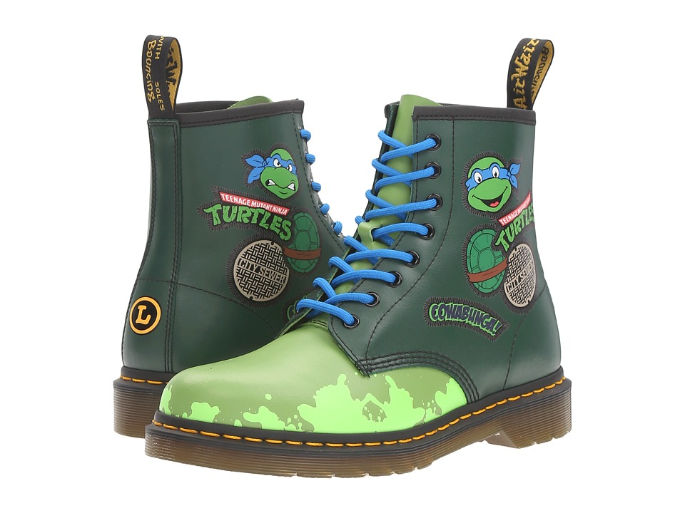 Dr. Martens - Leo 8-Eye Boot (Green T Lamper/Multi) Lace-up Boots