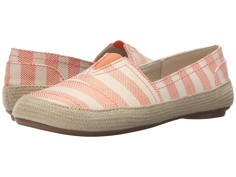 Nine West - Gilboy (Orange Stripe Fabric) Women's Flat Shoes