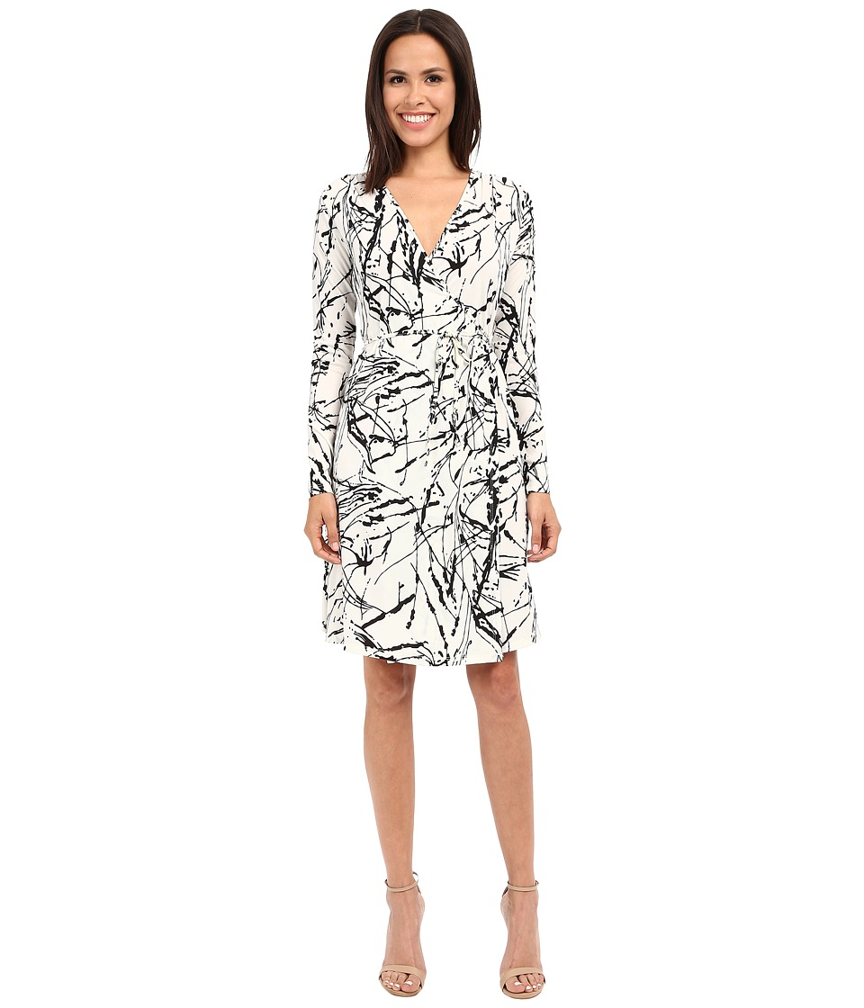 Christin Michaels - Emily Wrap Dress (Ivory/Black) Women's Dress