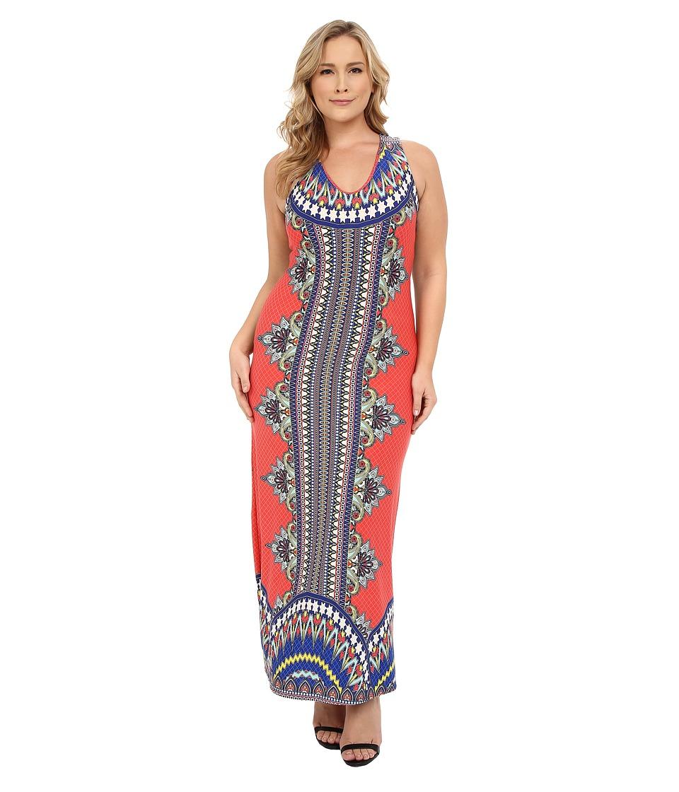Christin Michaels - Plus Size Allegra Sleeveless Maxi Dress (Multi) Women's Dress plus size,  plus size fashion plus size appare