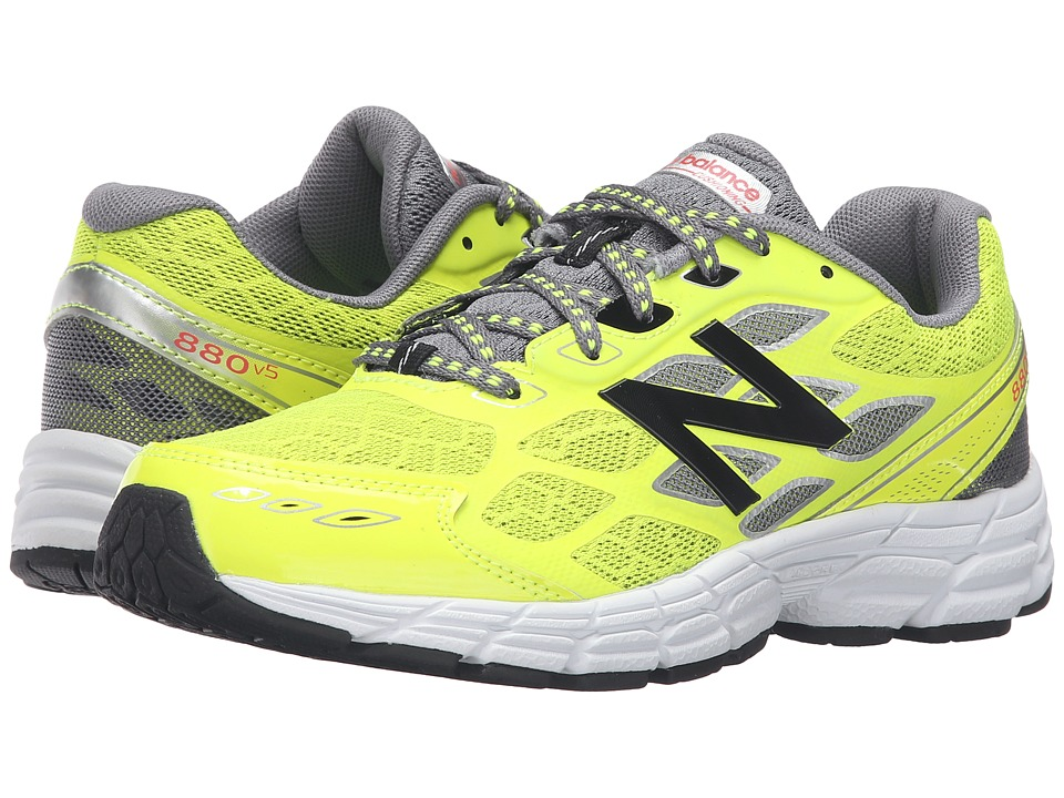 New Balance Kids 880 (Little Kid/Big Kid) (Yellow/Grey) Boys Shoes