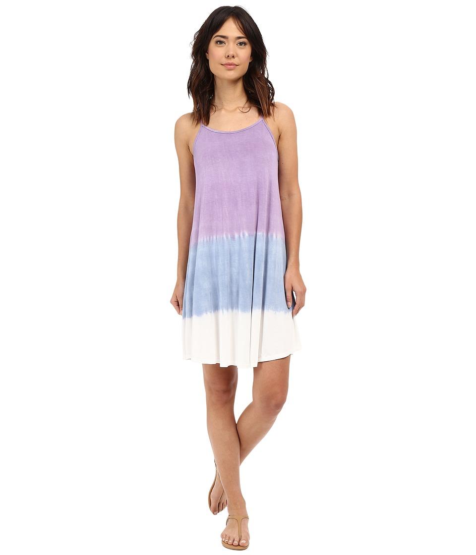 Culture Phit - Dahlia Spaghetti Strap Tie-Dye Dress (Lavender/Blue/Ivory) Women's Dress