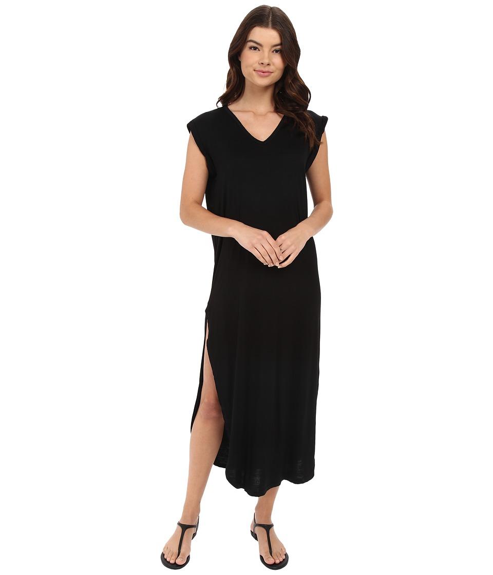 Culture Phit - Rilen V-Neck Rolled Sleeve Maxi Dress (Black) Women's Dress