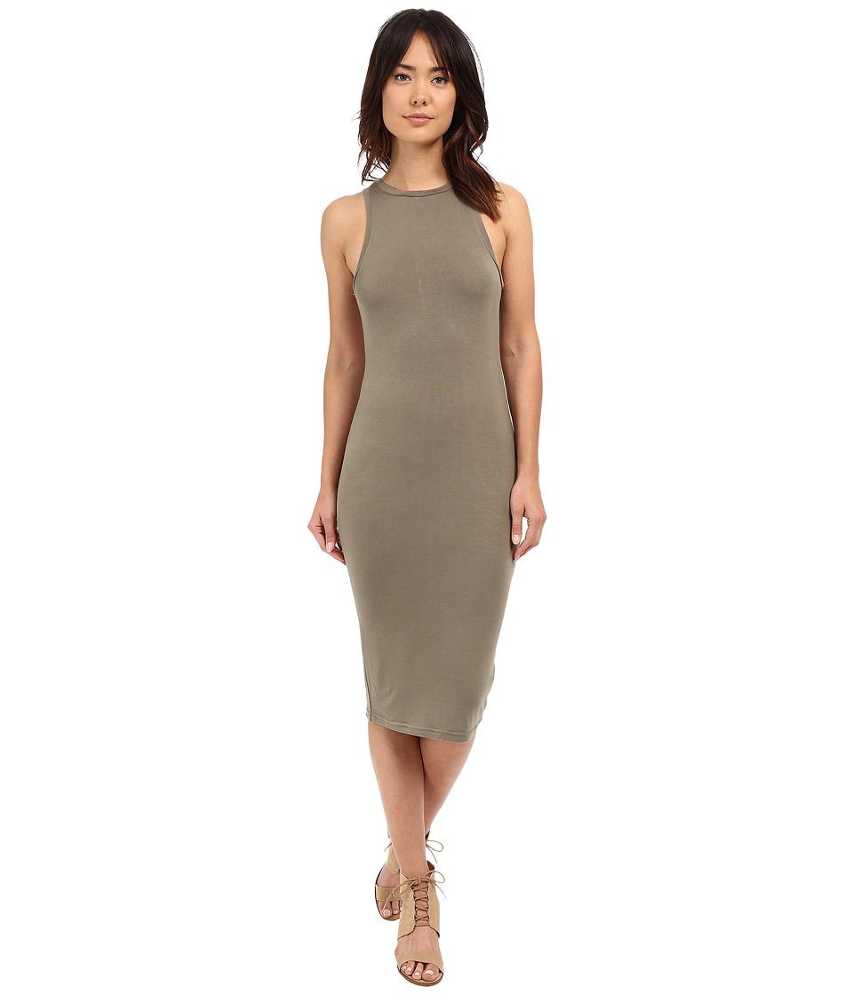 Culture Phit - Sylvie Midi Tank Dress (Olive) Women's Dress