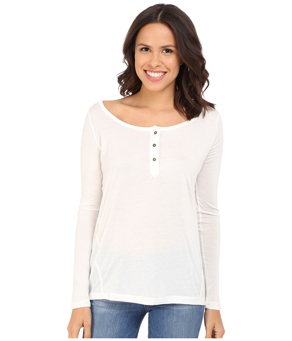 Culture Phit - Makaila Long Sleeve Top with Buttons (White) Women's Clothing