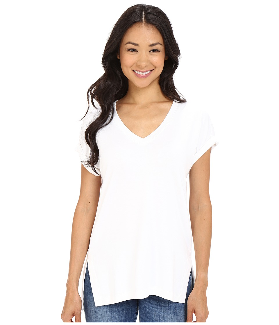 Culture Phit Janel Cuffed Sleeve Tee (White) Women