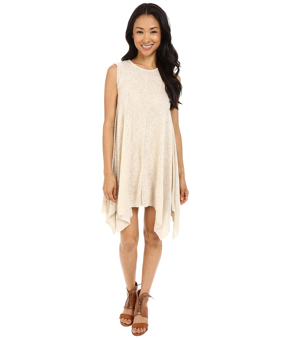 Culture Phit Alexa Shark-Hem Cap Sleeve Dress (Taupe) Women