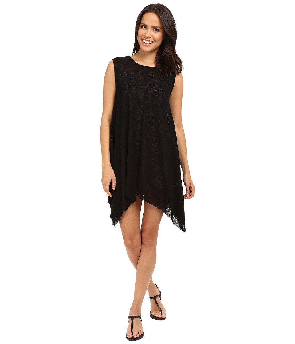 Culture Phit Alexa Shark-Hem Cap Sleeve Dress (Black) Women