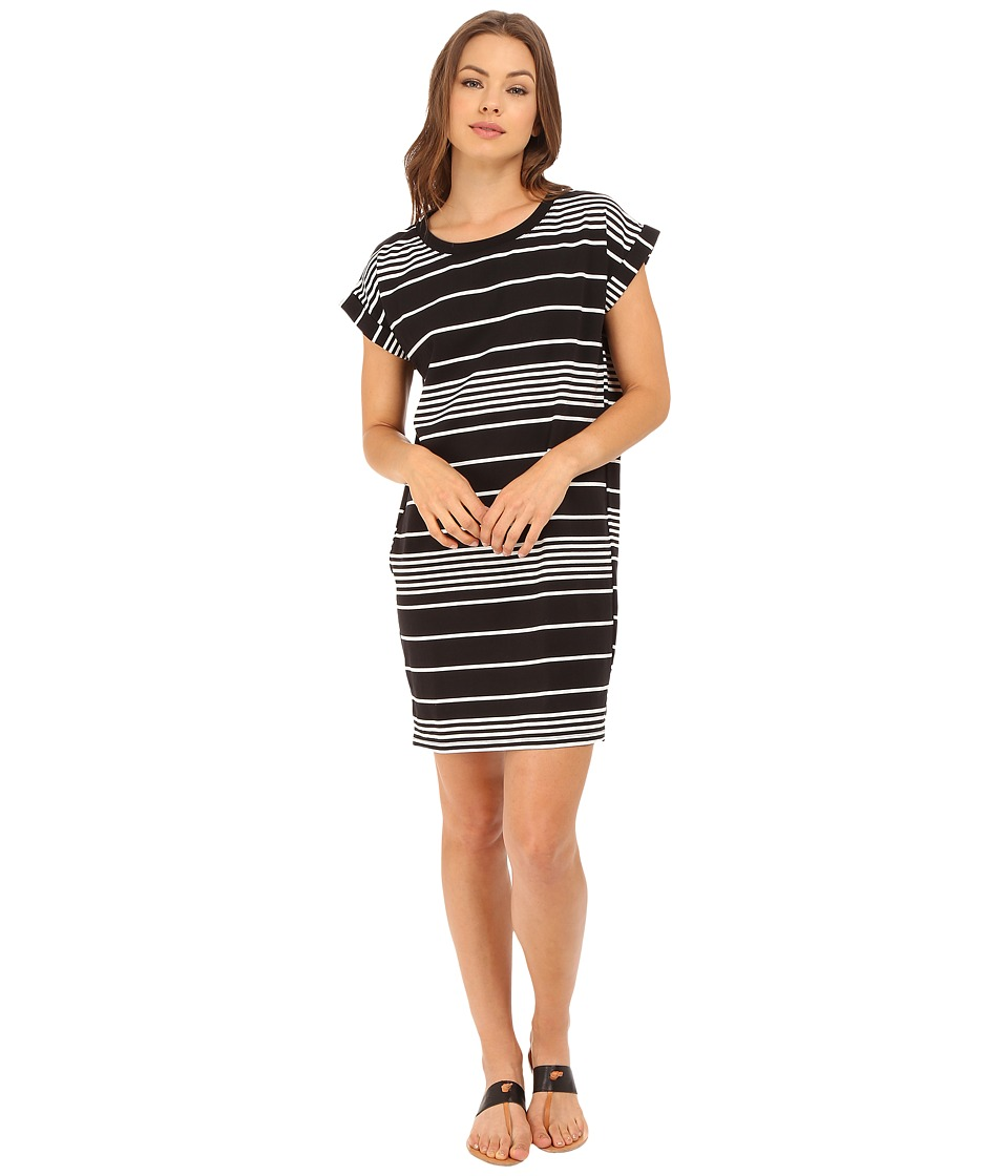 Culture Phit - Kingsley Striped T-Shirt Dress (Black/White) Women's Dress