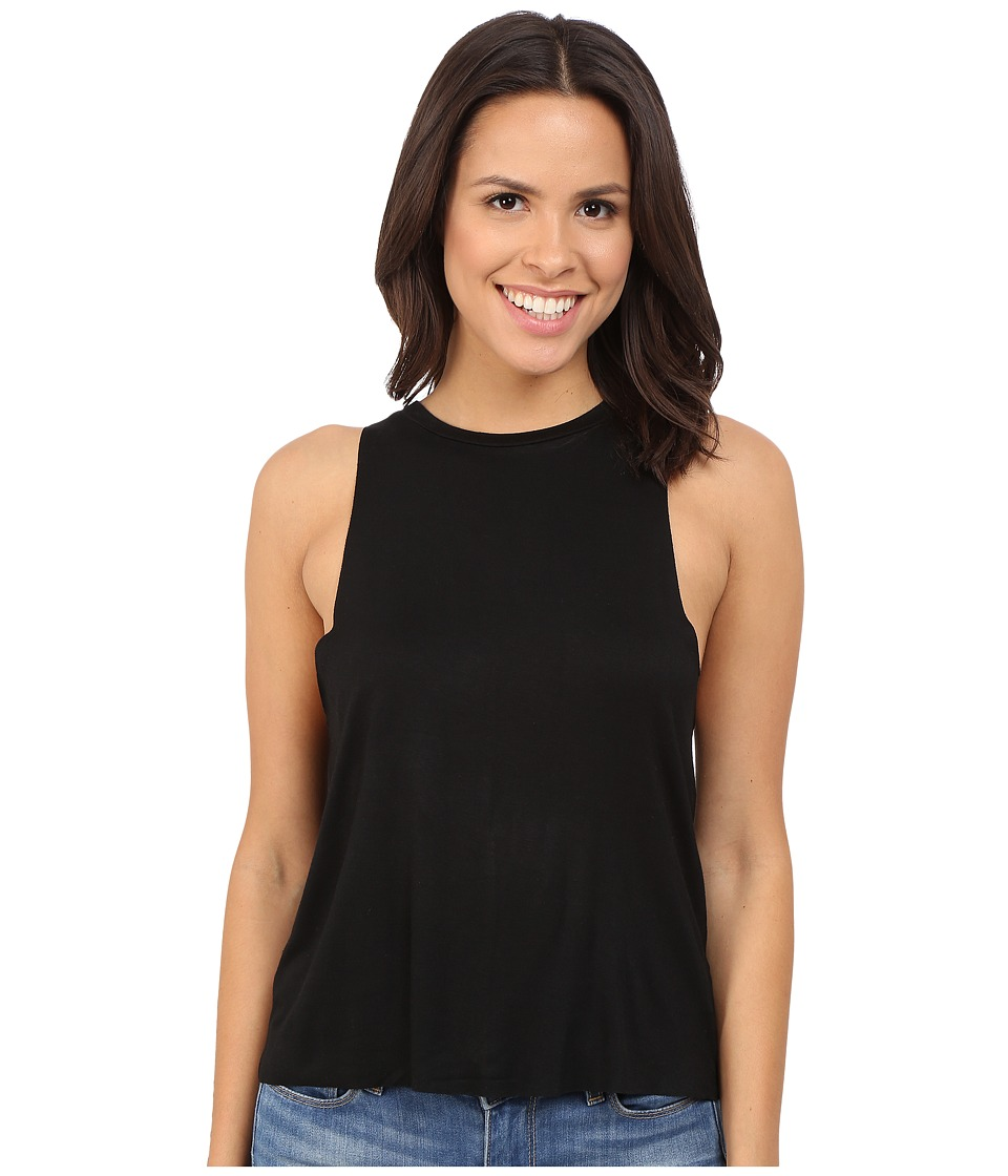 Culture Phit - Raelin Tank Top with Keyhole Back (Black) Women's Sleeveless