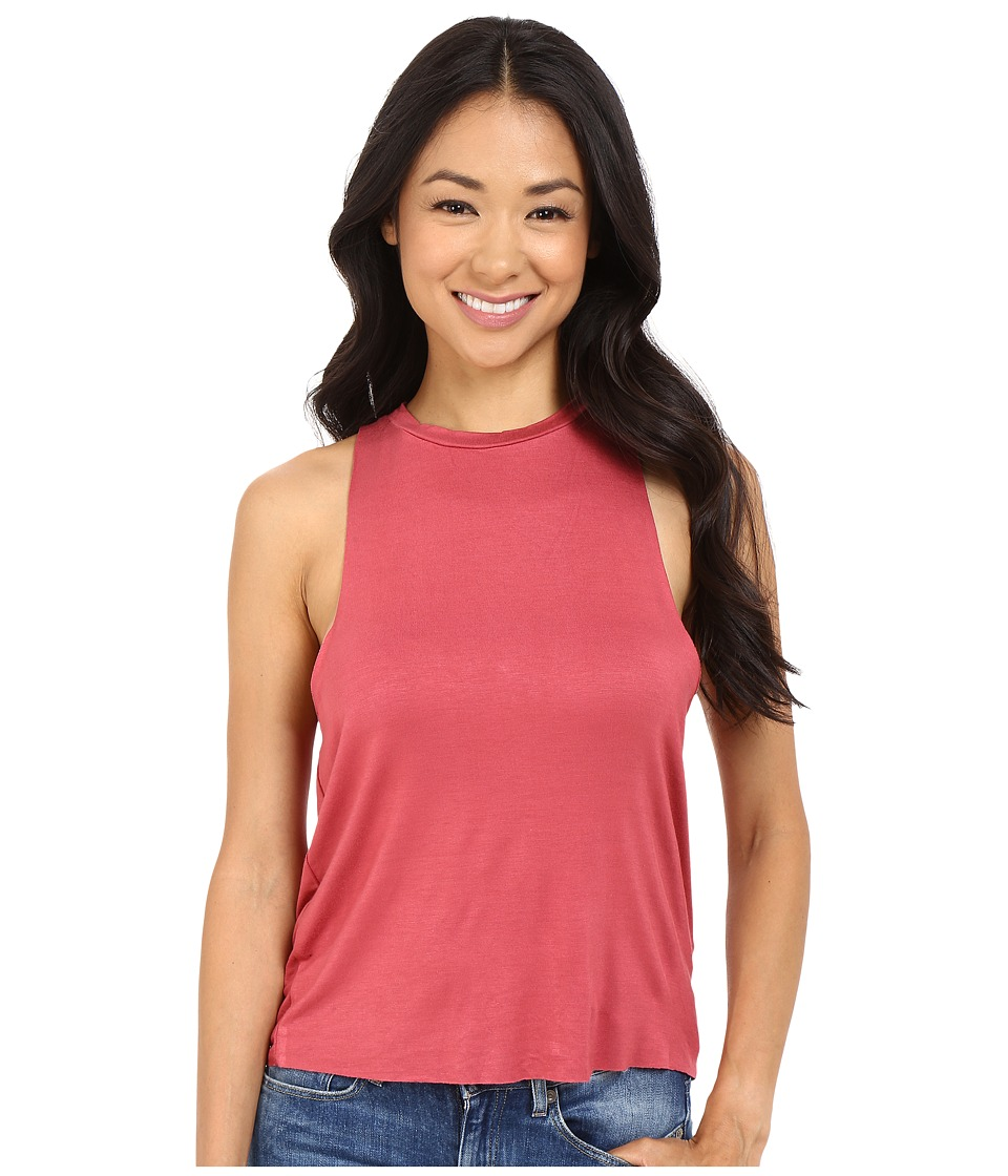 Culture Phit - Raelin Tank Top with Keyhole Back (Berry) Women's Sleeveless