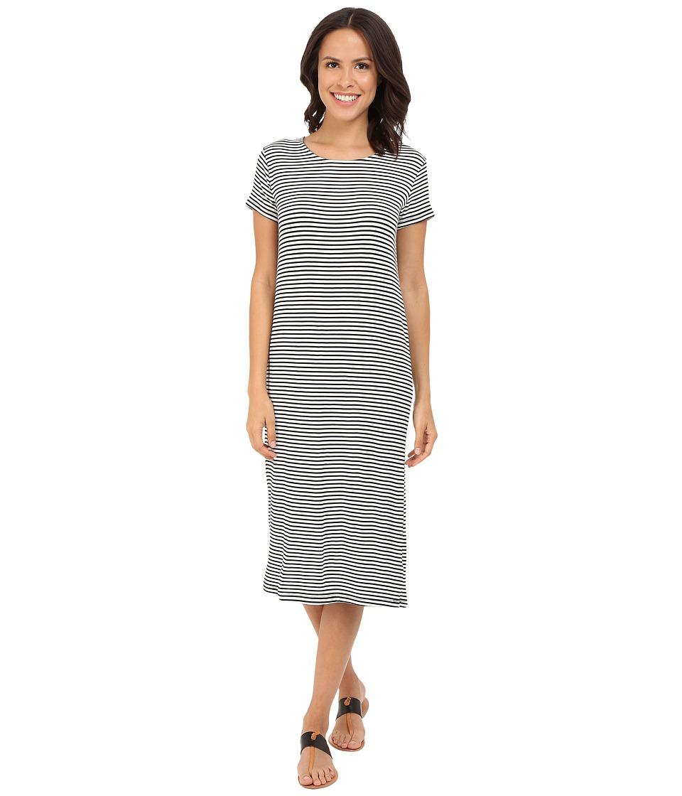 Culture Phit - Audrey Short Sleeve T-Shirt Dress (Black/White) Women's Dress