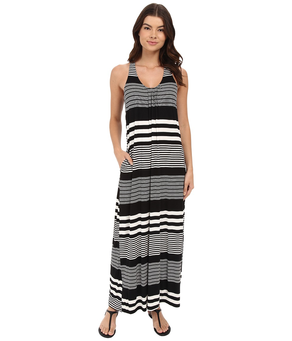 Culture Phit Ariah Twisted Back Maxi Dress (Black/White) Women