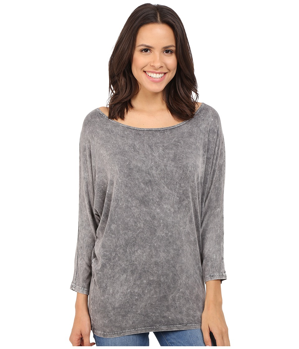 Culture Phit Finley Washed Dolman Top (Charcoal) Women