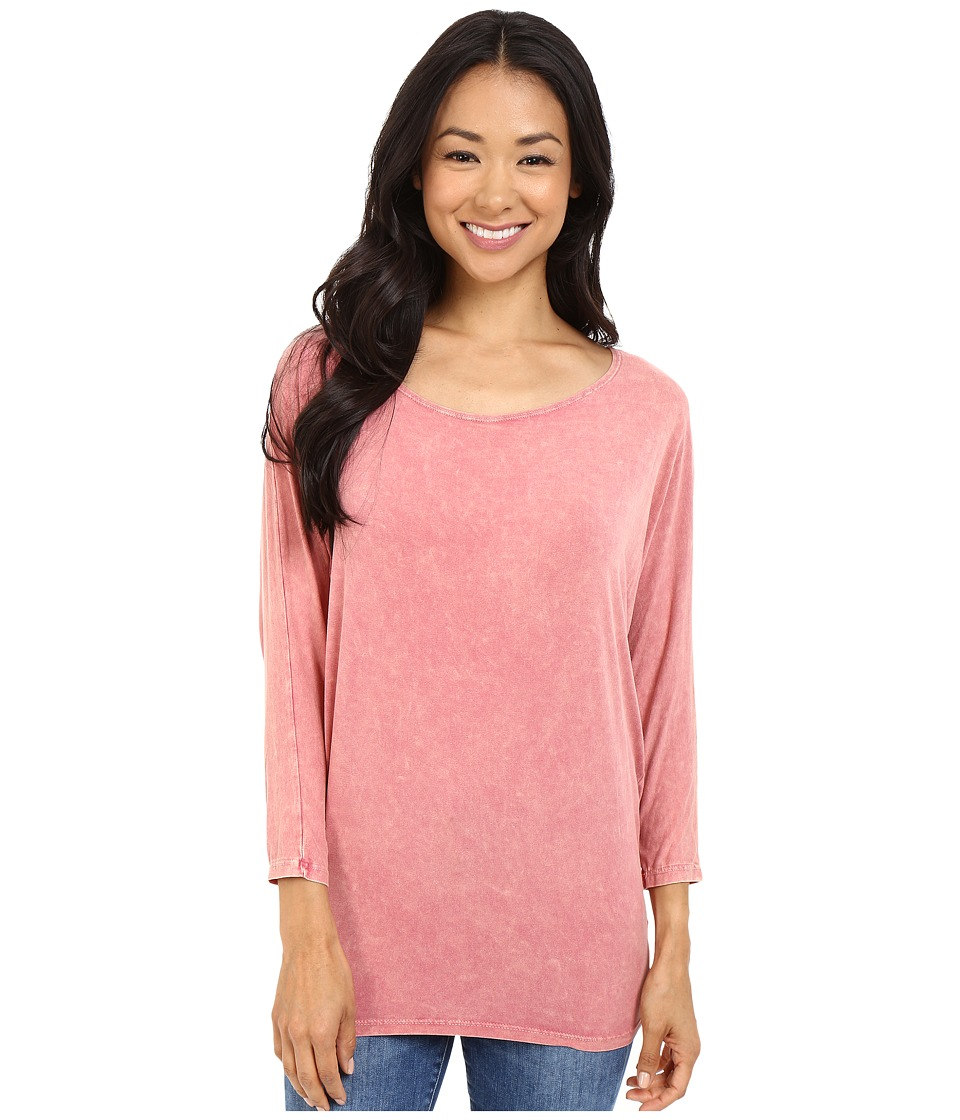 Culture Phit - Finley Washed Dolman Top (Berry) Women's Dress