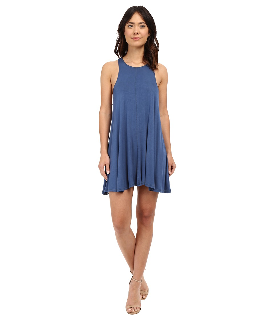 Culture Phit - Teagan Racerback A-Line Dress (Blue) Women's Dress