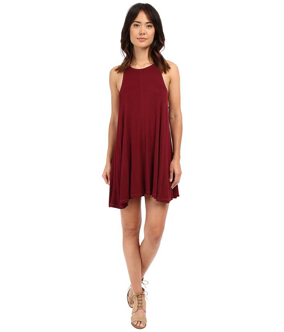 Culture Phit - Teagan Racerback A-Line Dress (Burgundy) Women's Dress