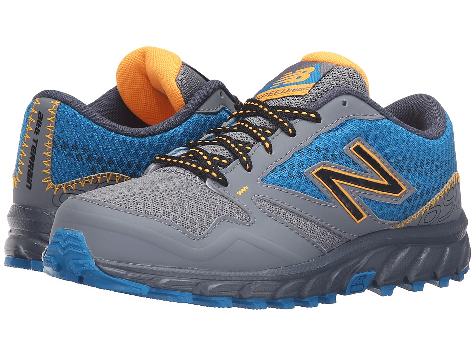 New Balance Kids - 690 Trail (Little Kid/Big Kid) (Blue/Orange) Boys Shoes