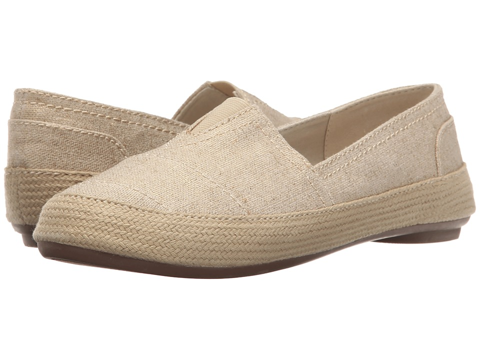 Nine West - Gilboy (Light Gold Canvas) Women's Flat Shoes