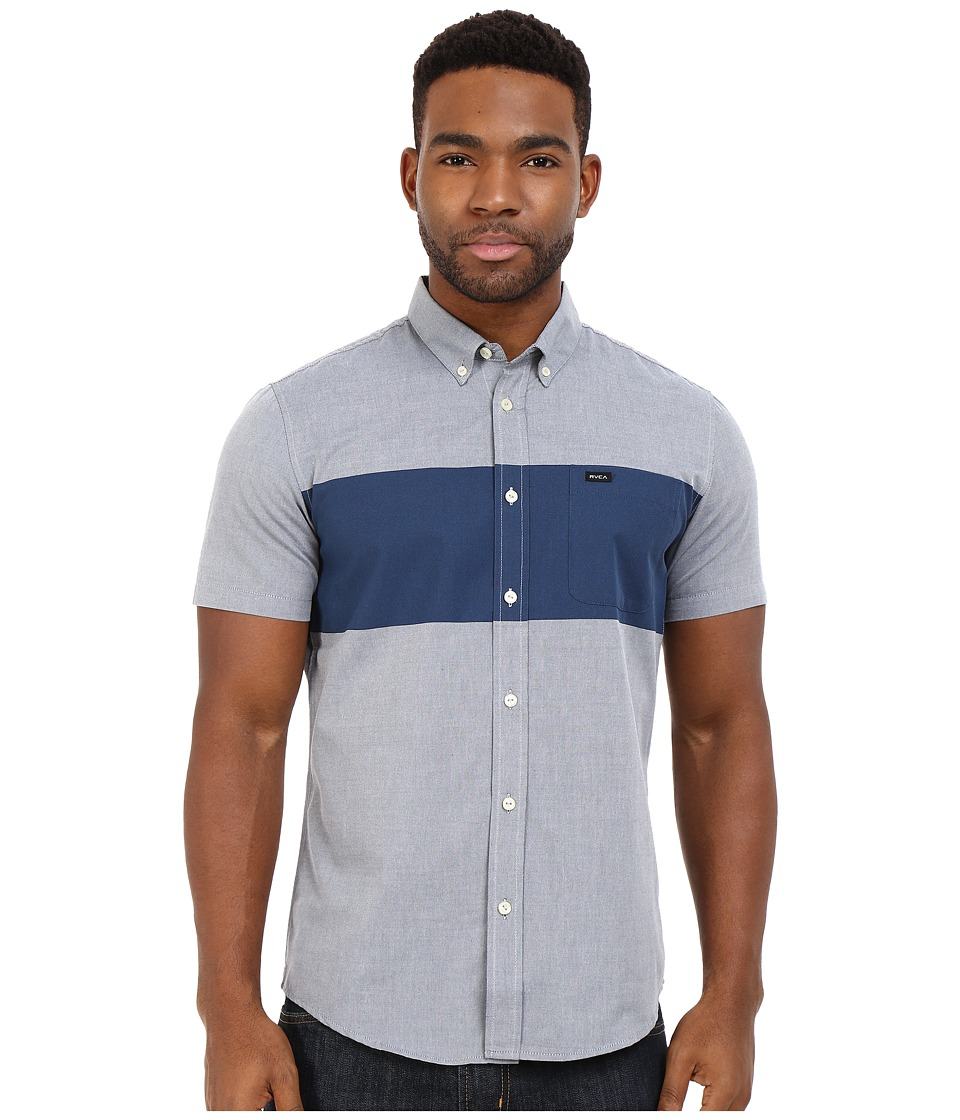 RVCA - That'll Do Bar Short Sleeve Woven (Distant Blue) Men's Clothing