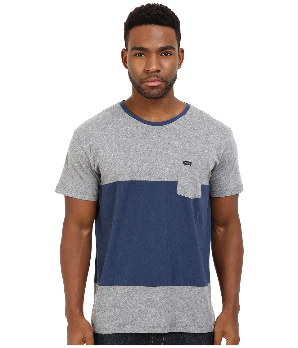 RVCA - Block Up Crew (Athletic Heather) Men's Clothing