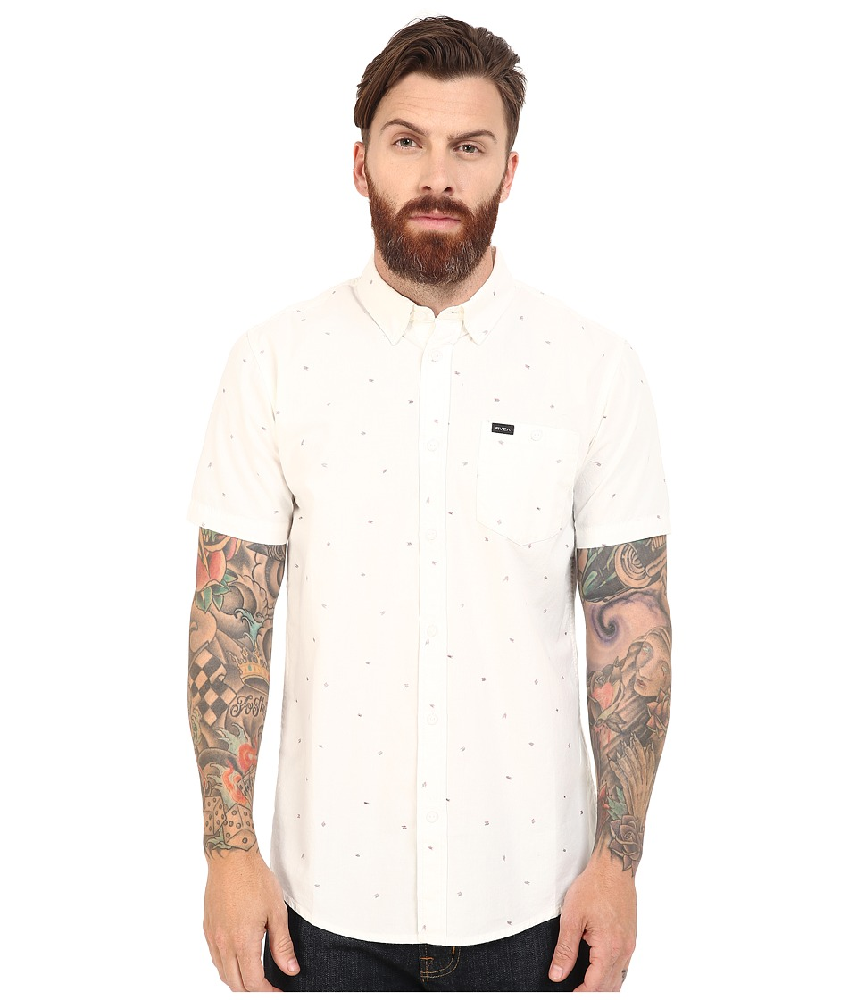 RVCA - Particle Theory Short Sleeve Woven (Vintage White) Men's Clothing
