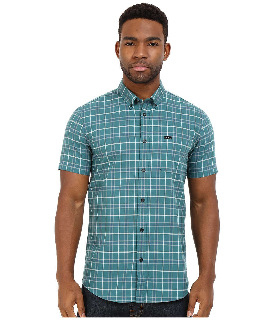 RVCA - That'll Do Plaid Short Sleeve Woven (Pacific) Men's Clothing