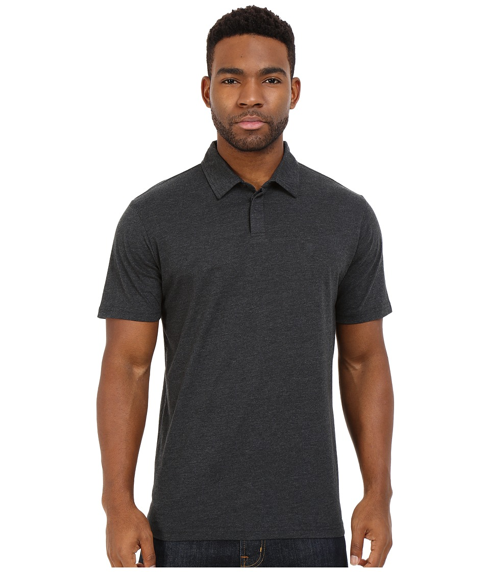 RVCA - Sure Thing II Polo (Charcoal Heather) Men's Short Sleeve Knit