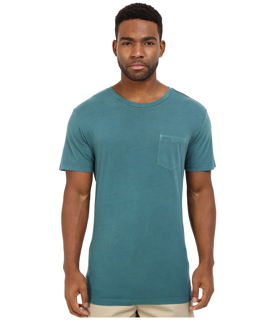 RVCA - PTC2 Pigment Knit (Pacific) Men's T Shirt