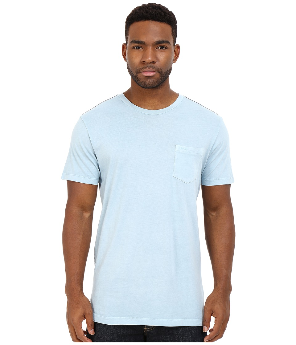 RVCA - PTC2 Pigment Knit (Powder Blue) Men's T Shirt