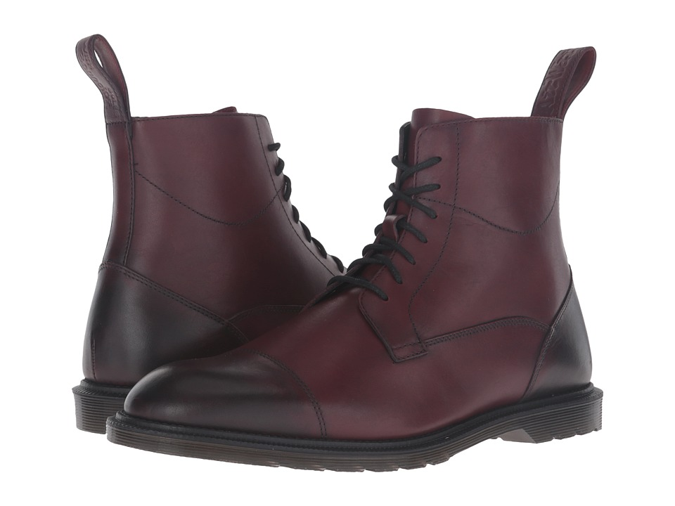 Dr. Martens - Winchester 7-Eye Zip Boot (Cherry Red Antique Temperley) Lace-up Boots