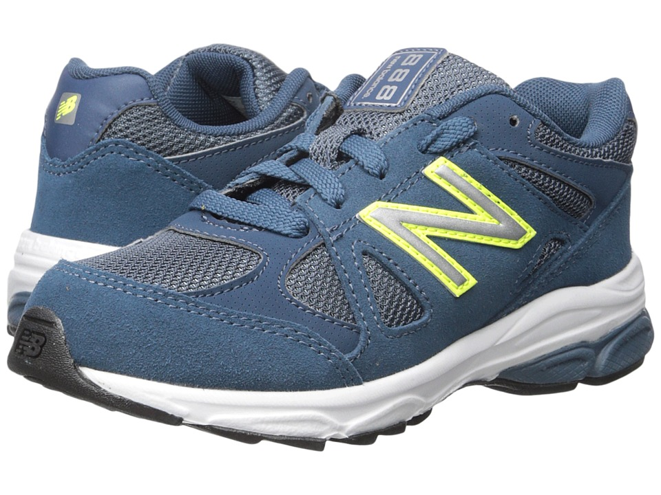 New Balance Kids - 888 (Little Kid) (Blue/Yellow) Boys Shoes