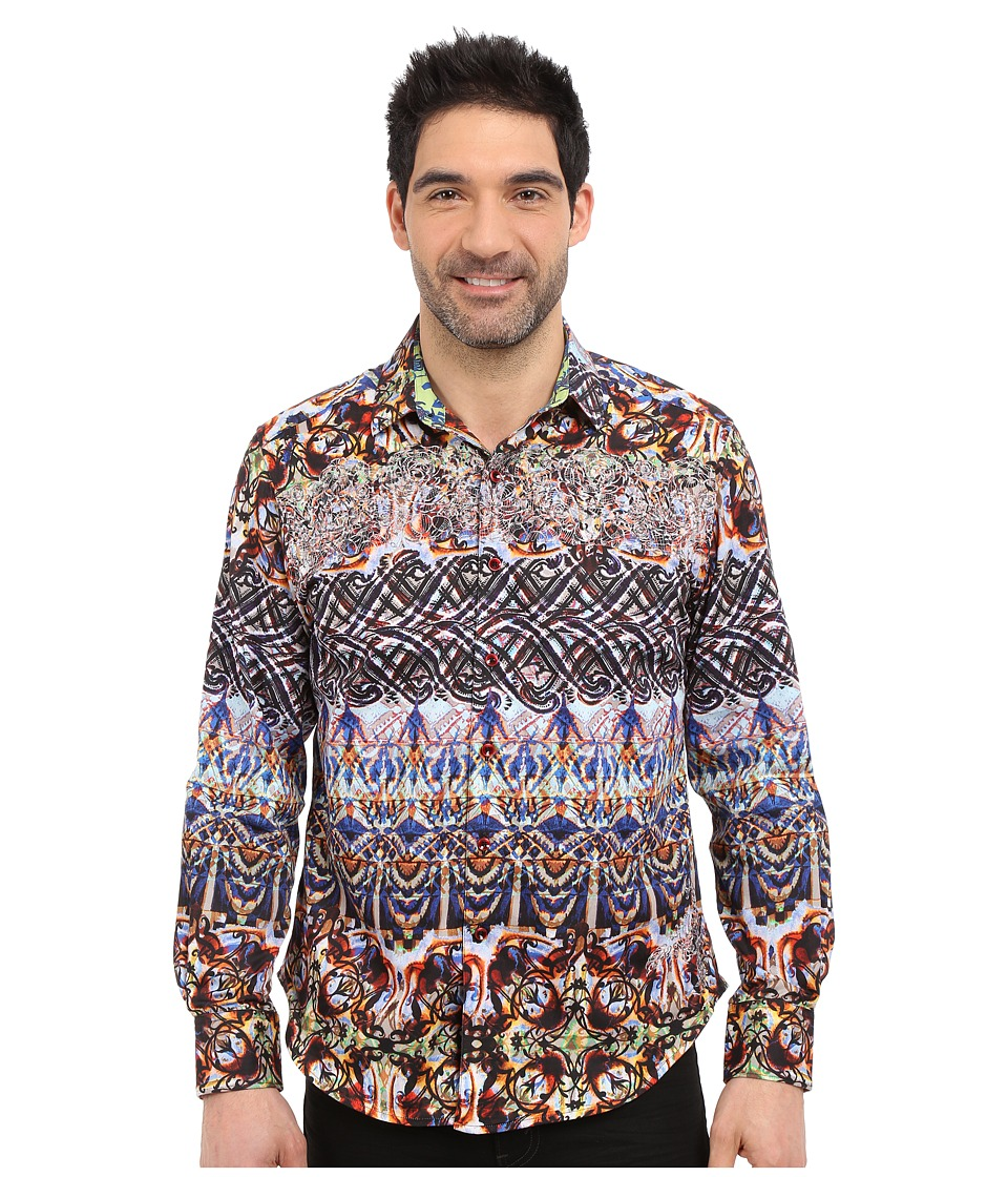 Robert Graham - Dwellers Long Sleeve Woven Shirt (Multi) Men's Long Sleeve Pullover