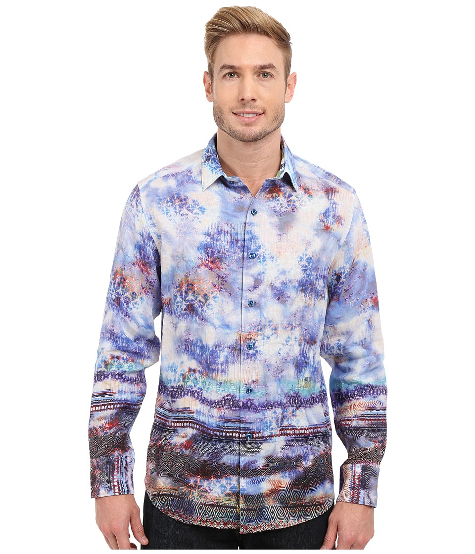 Robert Graham - The Tribe Long Sleeve Woven Shirt (Sapphire) Men's Clothing
