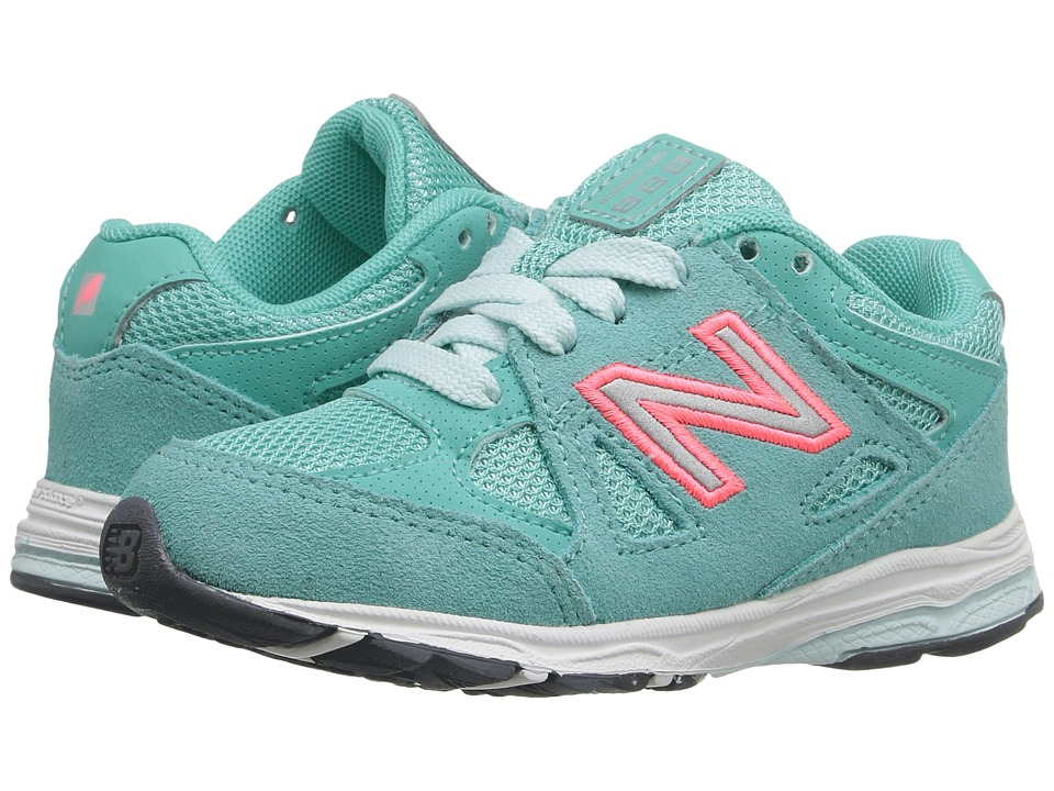 New Balance Kids - 888 (Infant/Toddler) (Grey/Green) Girls Shoes