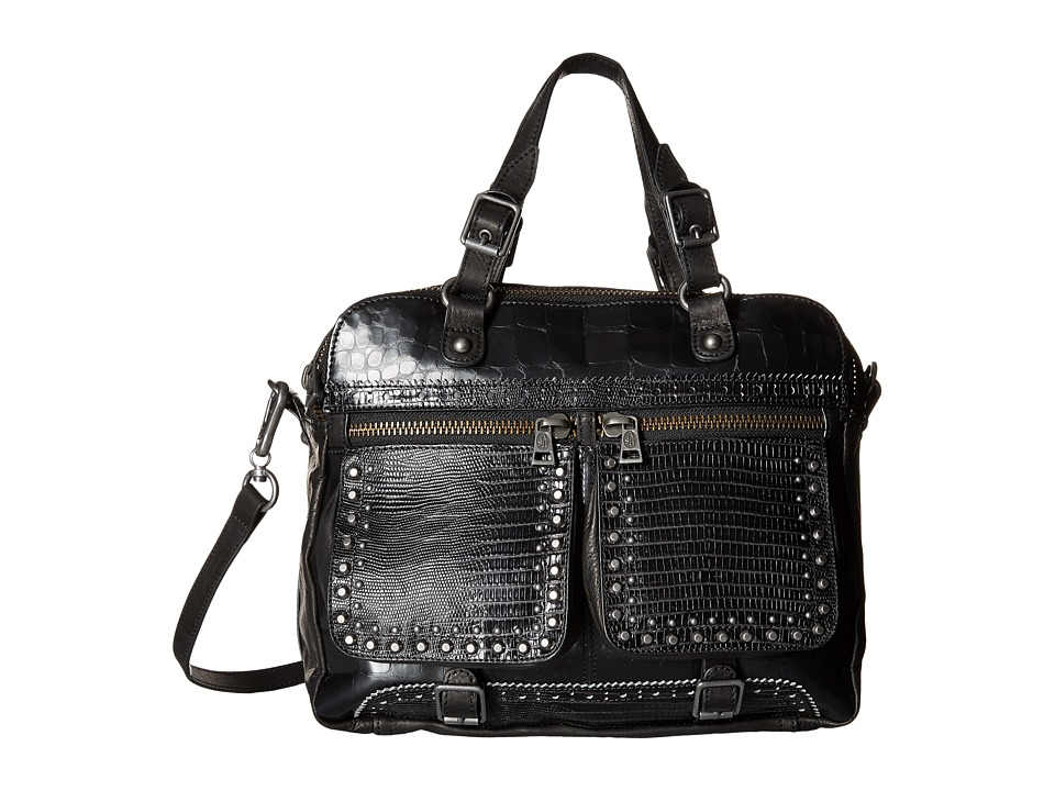 ASH - Barnaby Satchel (Black/Black) Satchel Handbags