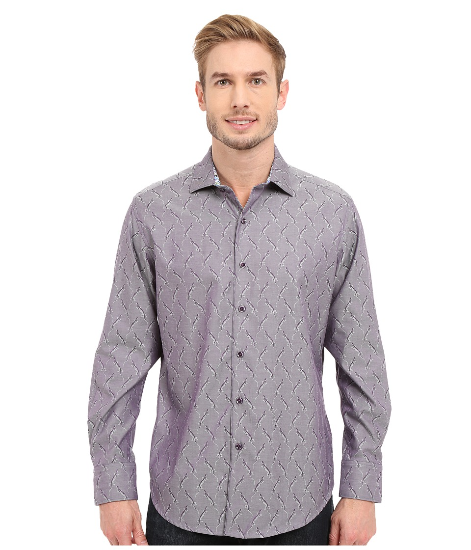 Robert Graham - Desert Iguana Long Sleeve Woven Shirt (Purple) Men's Long Sleeve Button Up