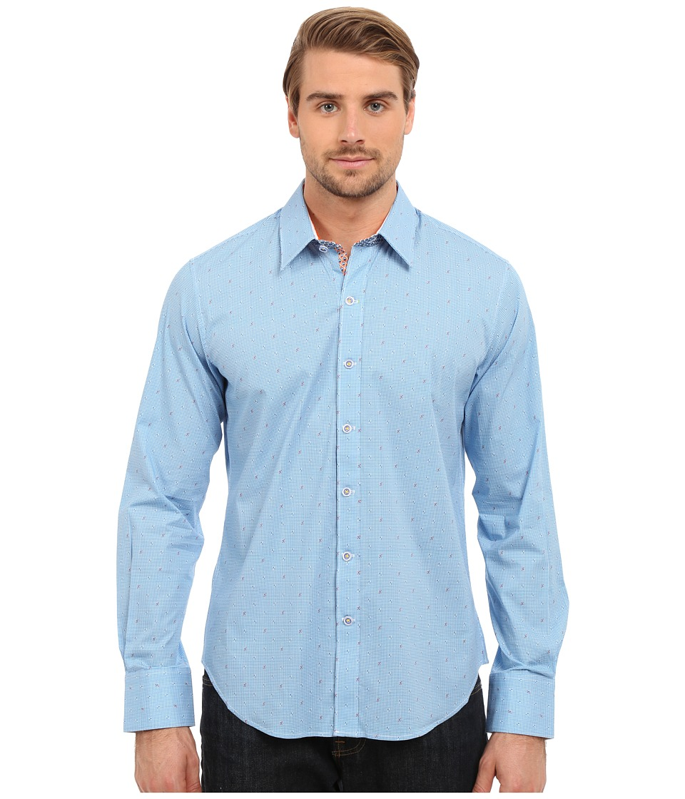 Robert Graham - X Marks the Spot Long Sleeve Woven Shirt (Blue) Men's Long Sleeve Pullover