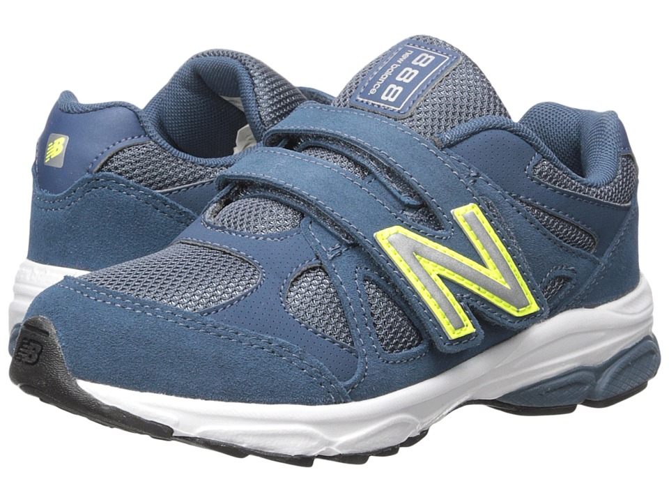 New Balance Kids - 888 (Little Kid) (Blue/Yellow 2) Boys Shoes