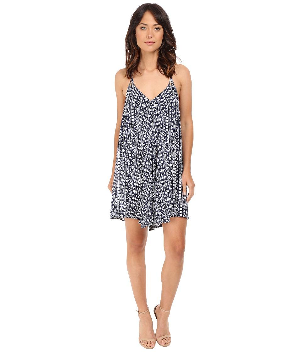Brigitte Bailey Brinley Spaghetti Strap Dress (Blue/Off-White) Women
