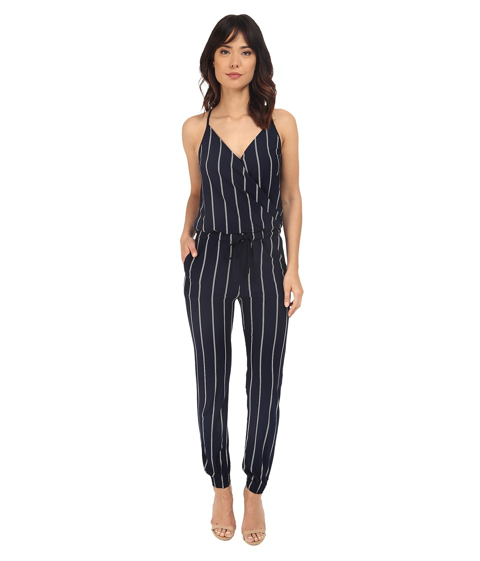 Brigitte Bailey - Makena Spaghetti Strap Striped Jumsuit (Navy/Ivory) Women's Jumpsuit & Rompers One Piece