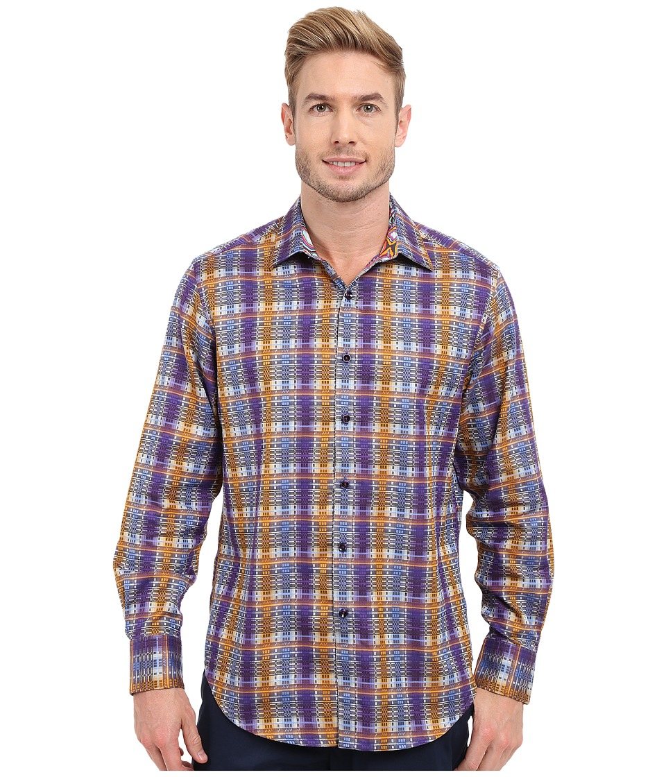 Robert Graham - Nasir Long Sleeve Woven Shirt (Purple) Men's Clothing