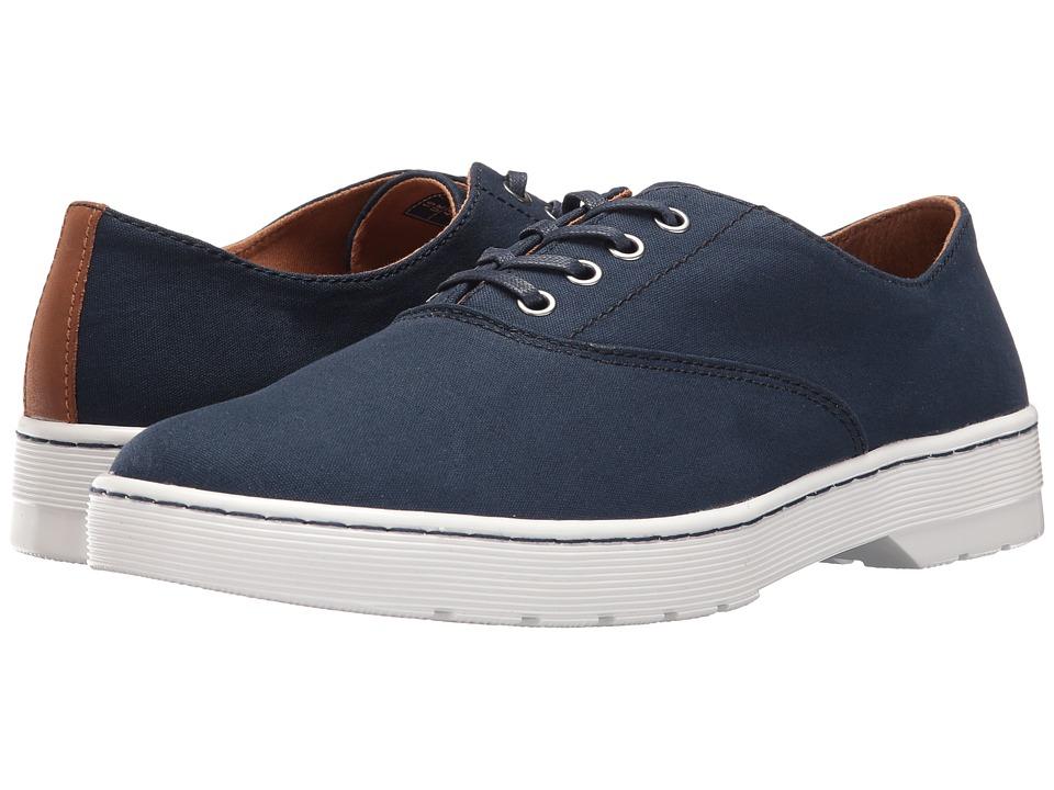 Dr. Martens - Lakewood 4-Eye Canvas Oxford Shoe (Navy 8oz. Canvas/Tan Mohawk) Lace up casual Shoes